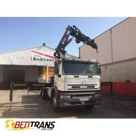 Camión IVECO EUROTECH 310 6X2, GRUA HIAB 322 HI-PRO+CABLE